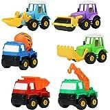 Mini Giocattolo per Tirare e Spingere Giochi del Veicoli Educativi per Bambini 3 4 Anni, 6 Pezzi