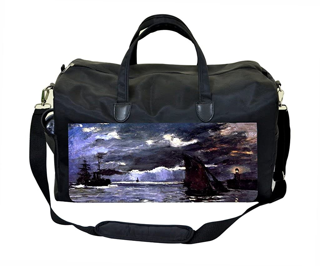 Claude Monet Seascape Night Effect Weekender Bag