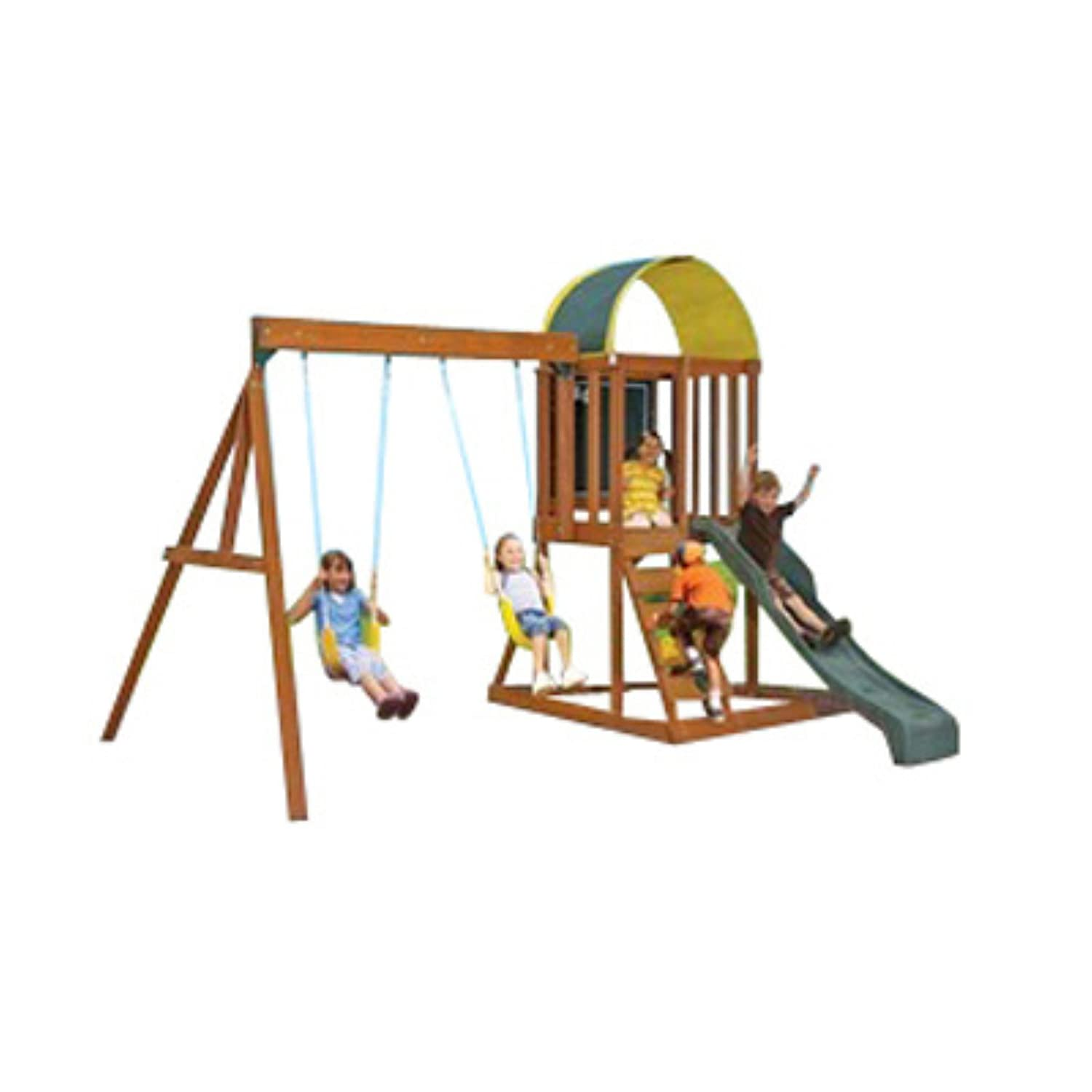 amazon com big backyard andorra swing set playset toys u0026 games