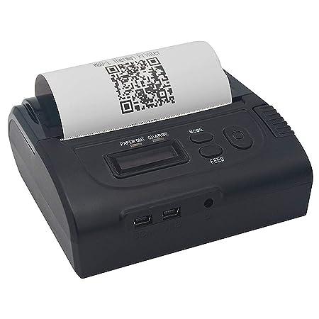80mm Impresora térmica de Recibos Bluetooth inalámbrico Cuenta con ...
