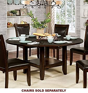Ordinaire Maegan I Brown Cherry Wood Round Dining Table By Furniture Of America