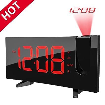 Pictek - Despertador con proyección reloj digital ...