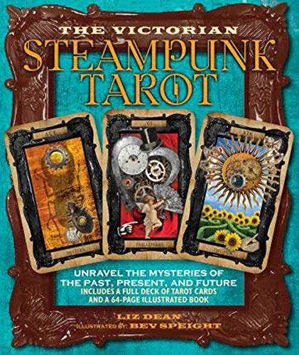 Party Games Accessories Halloween Séance Tarot Cards Victorian Steampunk tarot by Liz Dean 3