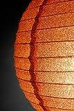 Dexon Power 12'' Copper Glitter Paper Lanterns