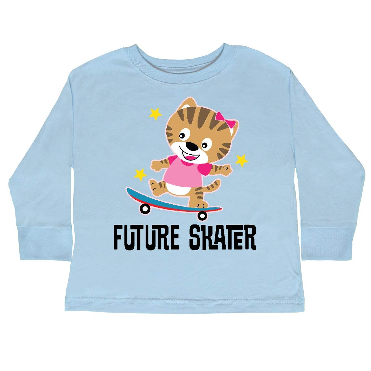 inktastic Skateboarding Girls Future Skater Toddler Long Sleeve T-Shirt