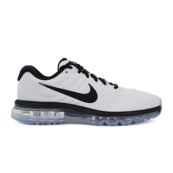 release date 7b4da 03b6a ... spain amazon nike air max 2017 running sneakers mens white black new  849559 105 10.5 running