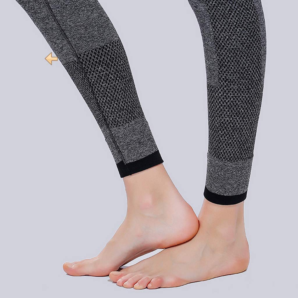 Sunyastor High Waist Yoga for Women Lightweight Leggings Running Gym Yoga Athletic Pants Tummy Control Compression Pant Gray by Sunyastor women pants (Image #4)