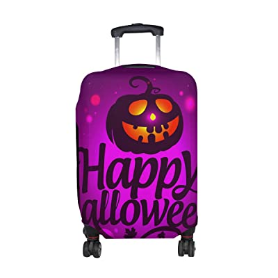 LORVIES Happy Halloween Print Travel Luggage Protective Covers Washable Spandex Baggage Suitcase Cover - Fits 18-32 Inch