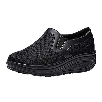 Calzado deportivo al aire libre para mujeres, entrenadores Mary Janes Lindos zapatos con cordones Chanclas Chanclas Alpargatas Cuña Correr Caminar baile, ...