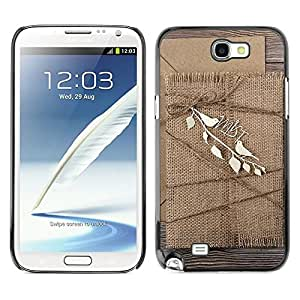 Be Good Phone Accessory // Dura Cáscara cubierta Protectora Caso Carcasa Funda de Protección para Samsung Note 2 N7100 // Cardboard cover