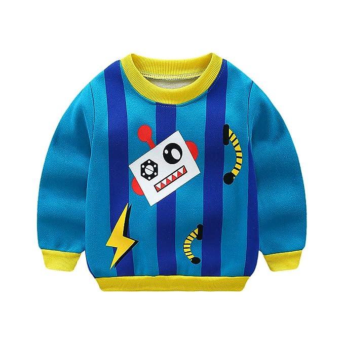 K-youth Sudadera para Niños Tops Niños Engrosamiento Terciopelo Camiseta de Manga Larga Sudadera Niños