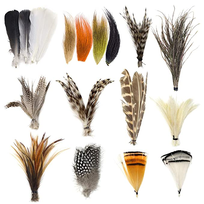 Tea Party Hats – Victorian to 1950s YZD Fly Tying Materials Starter Kit 12 Species Fly Tying Feathers Hair $19.99 AT vintagedancer.com