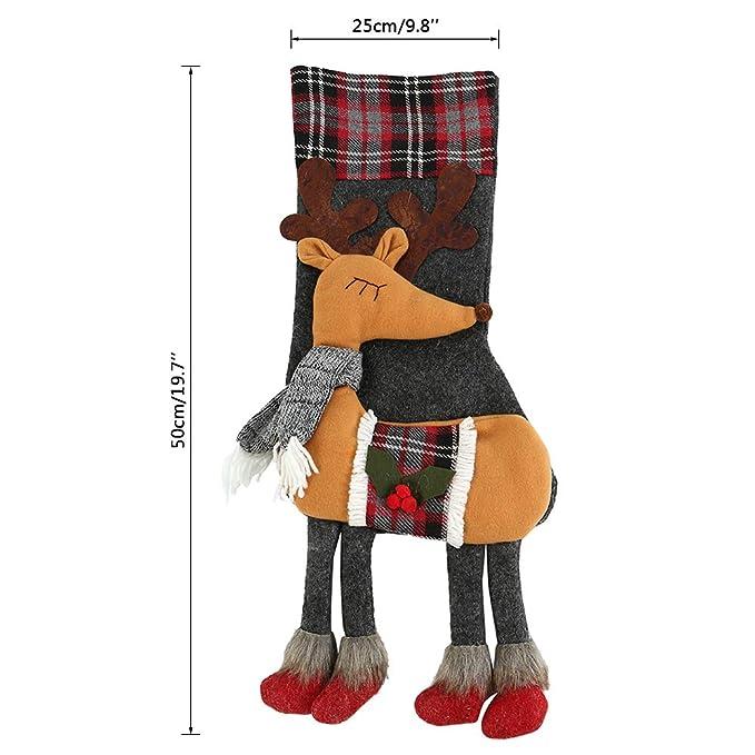 Iraza Bolsas de Calcetines Navidad Pintado y Coloreado Infantiles Navideñas Regalos Originales Navidad Niños (Elk): Amazon.es: Hogar