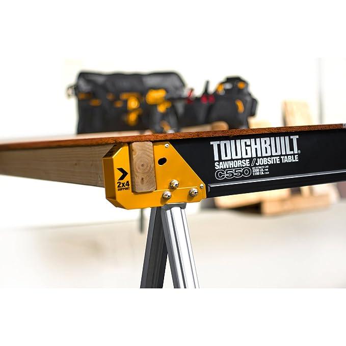 ToughBuilt tou-c550 C550 plegable Saw Caballo (, 2 unidades ...