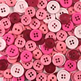 Blumenthal Lansing Favorite Findings Basic Buttons Assorted Sizes, 130/Pkg, Pink