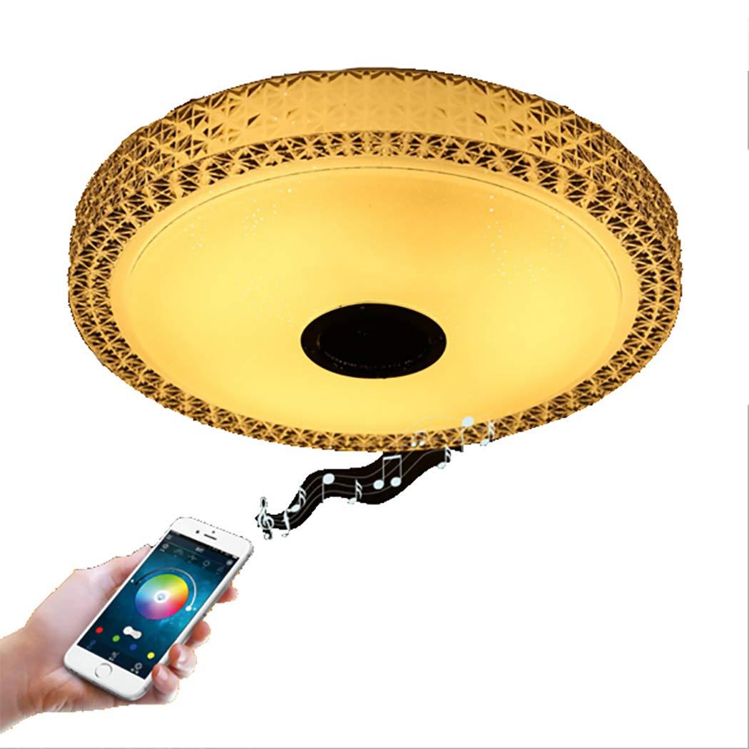 Amazon com led music ceiling light with bluetooth speaker 30w 15 7