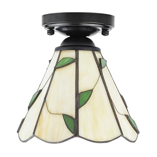 ZHMA Estilo de Tiffany lámpara de techo, 15cm Lamparas Tiffany para Dormitorio Cocina de Restaurante Sala de estar balcón pasillo lámparas luces de ...