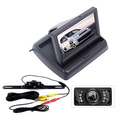 DONGMAO Monitor de Coche Plegable TFT a Color LCD Cámara de visión Trasera para Coche 16