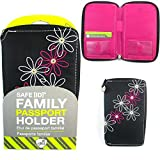 Family Passport Holder RFID Blocking ID Wallet Compact Travel Case Travelon New