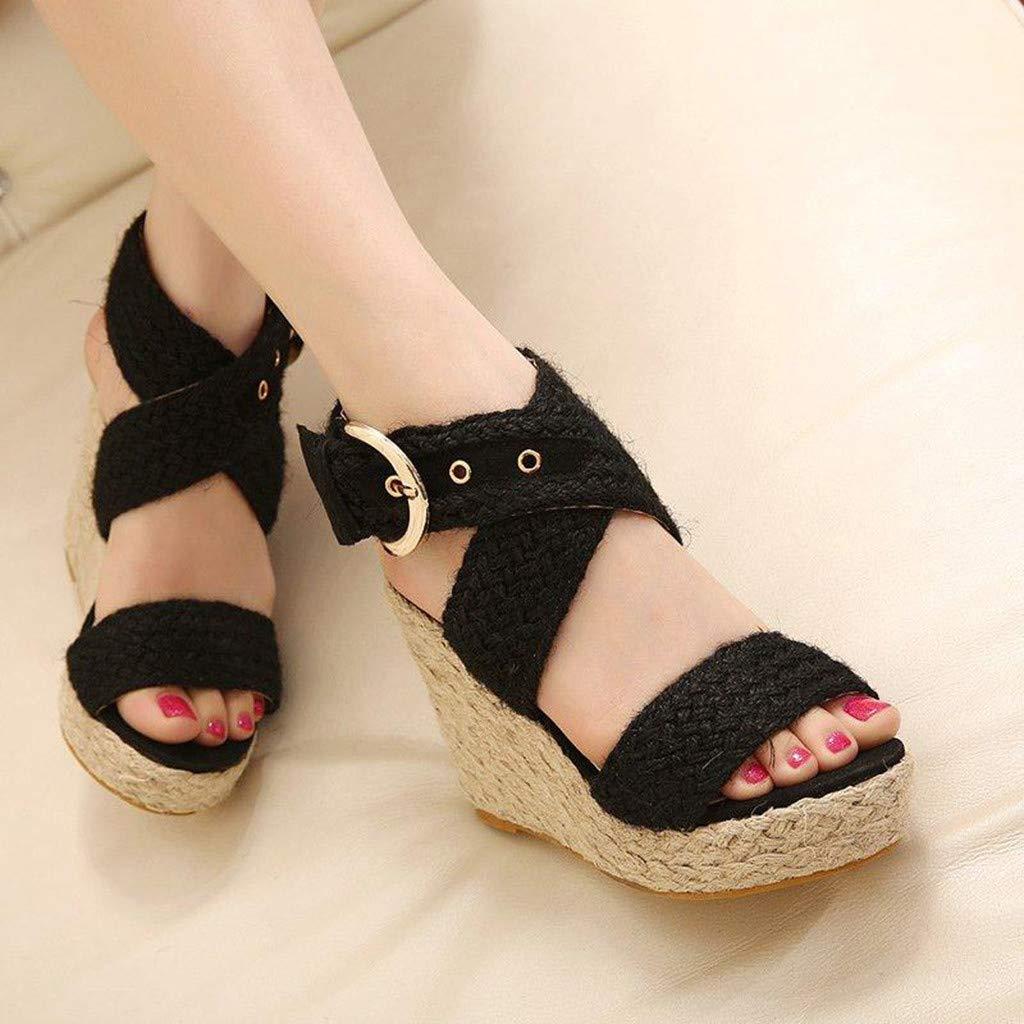 Sunnywill Femme Sandales Compens/ées Sandales Talon Compens/é Chaussures Tongs Sandales High Heels Sandales Bout Ouvert Plate-Forme Mode /Ét/é Sandales Mocassins Chaussures de Plage