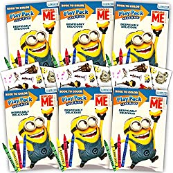Despicable Me Minions Ultimate Party Favors Packs -- 6 Sets with Stickers, Coloring Books and Crayons (Party Supplies)