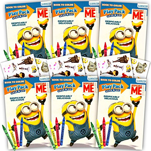 Despicable Me Minions Ultimate Party Favors Packs -- 6 Sets with Stickers, Coloring Books and Crayons (Party Supplies) -