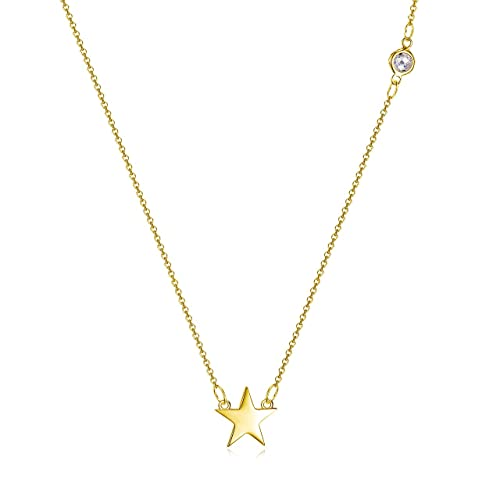 8aac81fd21ea Image Unavailable. Image not available for. Color  Star Necklace in 18k Gold  over Sterling Silver