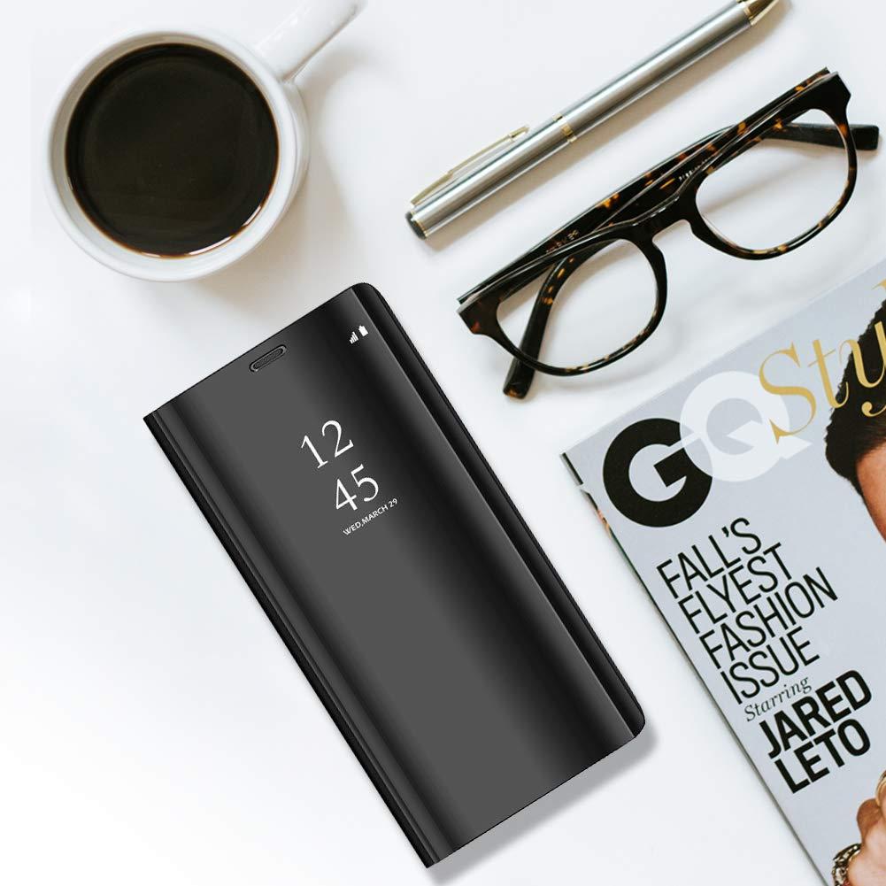 Funda Compatible with Xiaomi Redmi Note 7 Funda PC PU Espejo Flip Stand 360 Protecci/ón Cover para Xiaomi Redmi Note 7 Carcasa