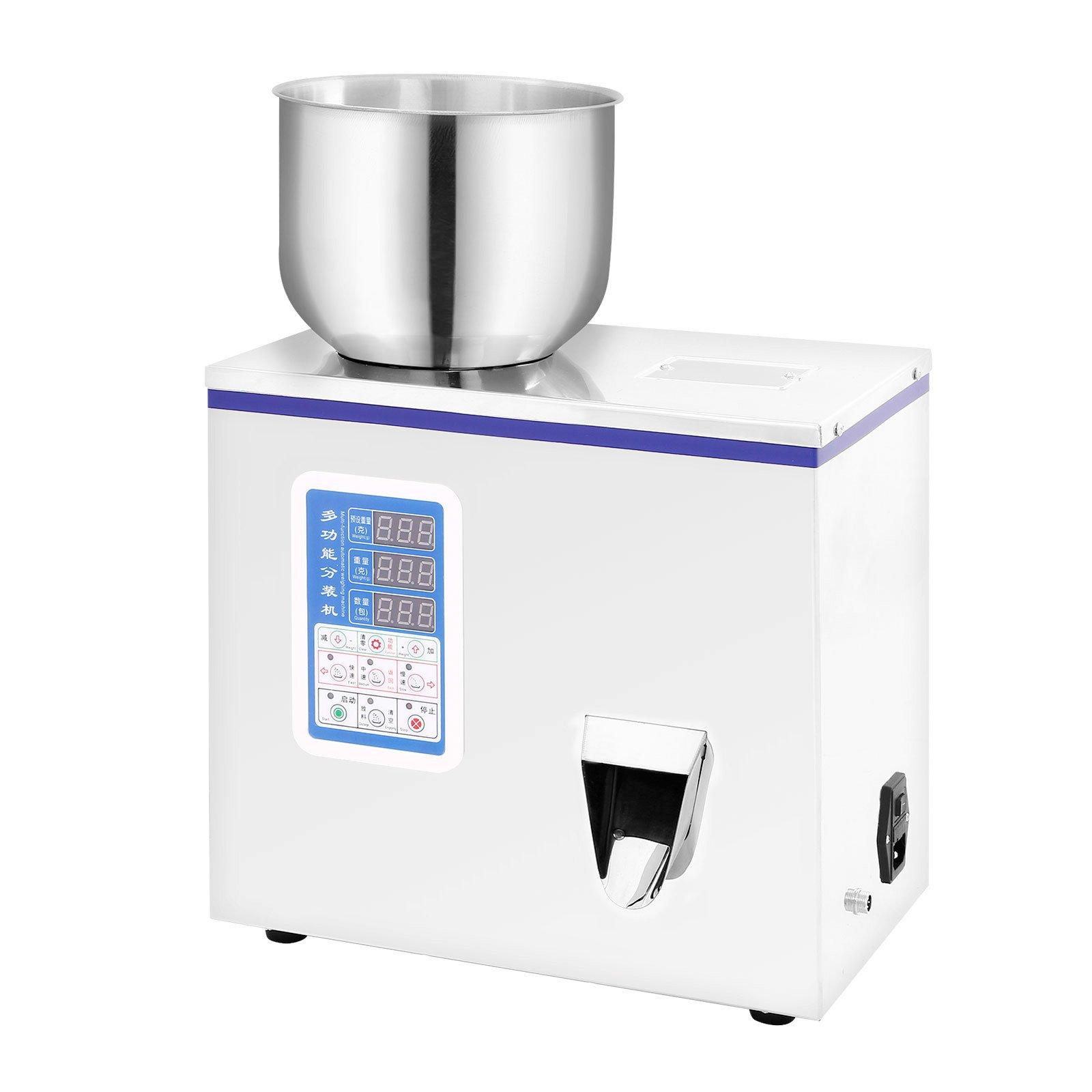Forkwin Powder Filler Machine 150W Powder Filling Machine 2-100g Weighing Filling Machine Automatic Powder Filling Equipment for Sealing Tea Grain Seeds