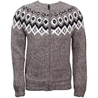 ICEWEAR Ragnar 100% Icelandic wool hand knitted Jumper with Zipper