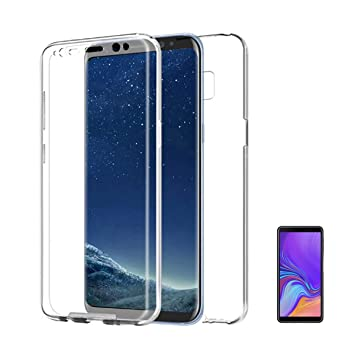Compatible con [[ SAMSUNG GALAXY A7 (2018) 6 pulgadas]] Carcasa Funda 360º de doble cara 100% transparente completa con trasera rígida