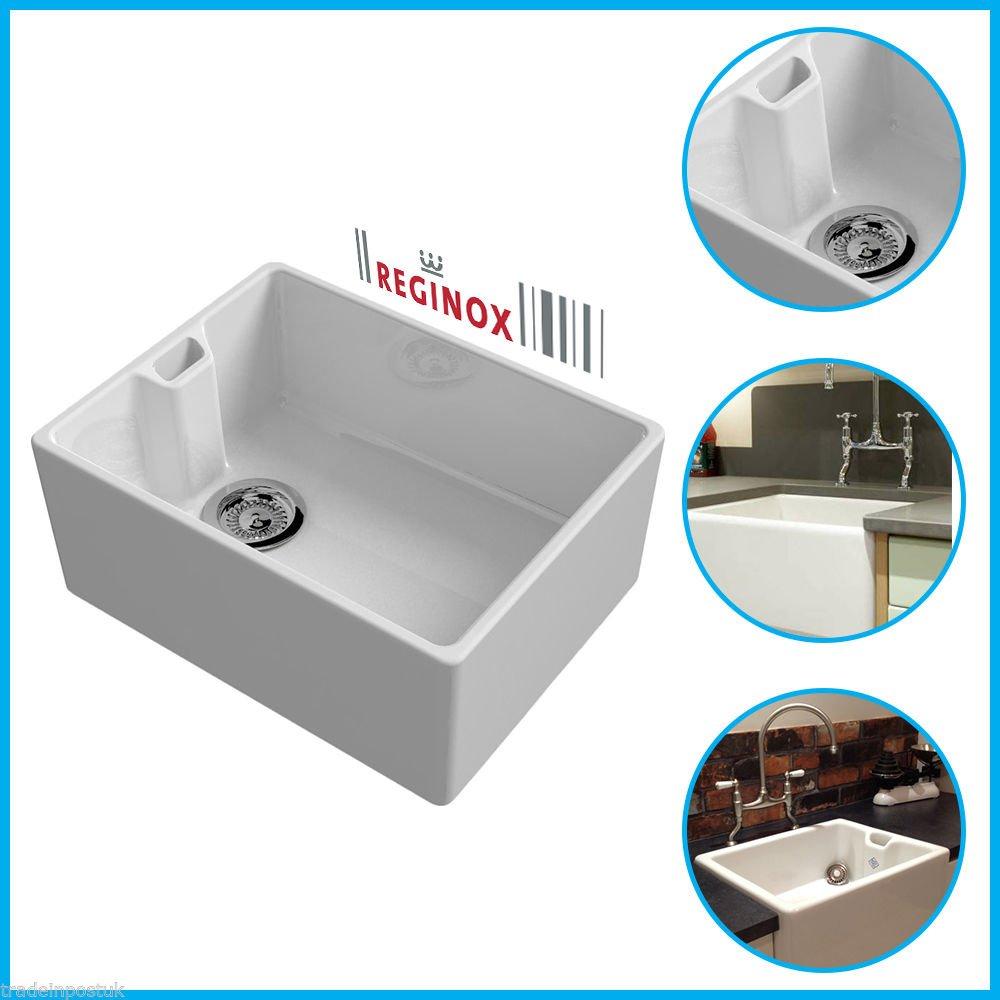 Reginox 60 cm weiß Belfast Keramik Küche Spüle & Keramik Oberflächen ...