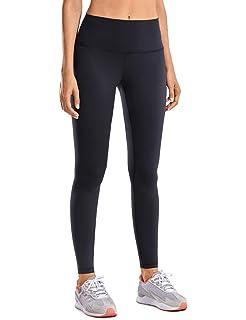 CRZ YOGA Womens Matte High Waisted Yoga Pants Tummy Control ...