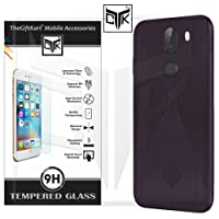 TheGiftKart 10 Or G / 10.Or G / Tenor G Back Cover + Tempered Glass: Flexible Rugged Case/Anti Slip/Premium Finish (Wine) + HD Tempered Glass