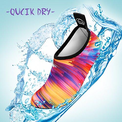 à de de Aquatique Rapide Chaussures Nus Hommes Enfants d'eau Surf de Séchage on Plage et SANMIO de Chaussettes Sport Nager Yoga Multicolore de pour Pieds Slip Aqua Chaussettes Femmes 58nqZ