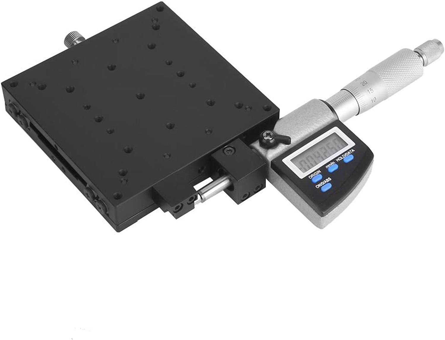 Linear Translation Stage Black Micrometer Stage Anti-Corrosion Waterproof For Production Machinery Inspection Equipment