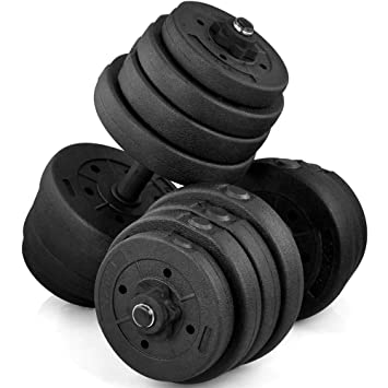 e5ba8907a26 Popamazing 30kg 20kg Fitness Dumbbell Set Collars Adjustable Dumbbells  Weight Set for Body Workout Home Gym  Amazon.co.uk  Sports   Outdoors