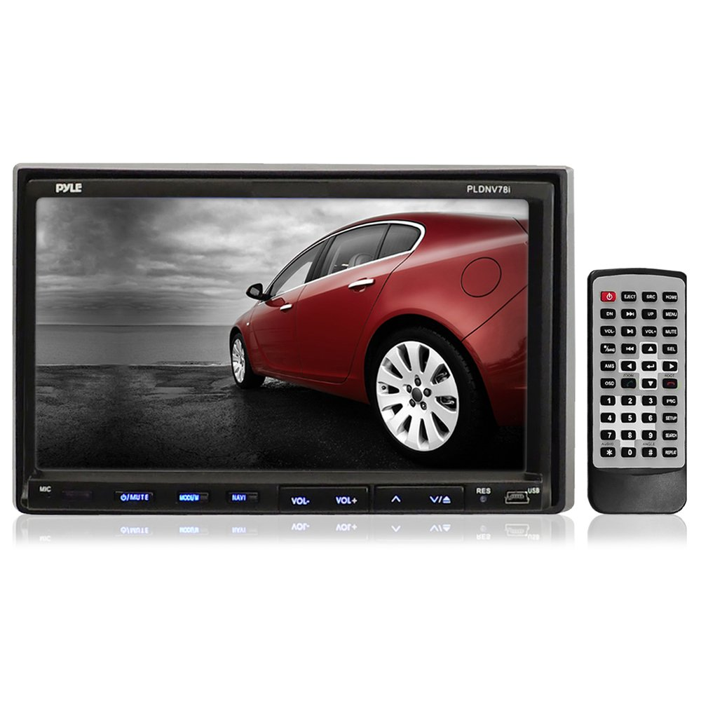Pyle Pldnv78i 7-Inch Double-Din Touchscreen Lcd Monitor with  Dvd/Cd/Mp3/Mp4/Usb/Sd/Amfm/Rds/Bluetooth and Gps (Discontinued by  Manufacturer): Amazon.ca: ...