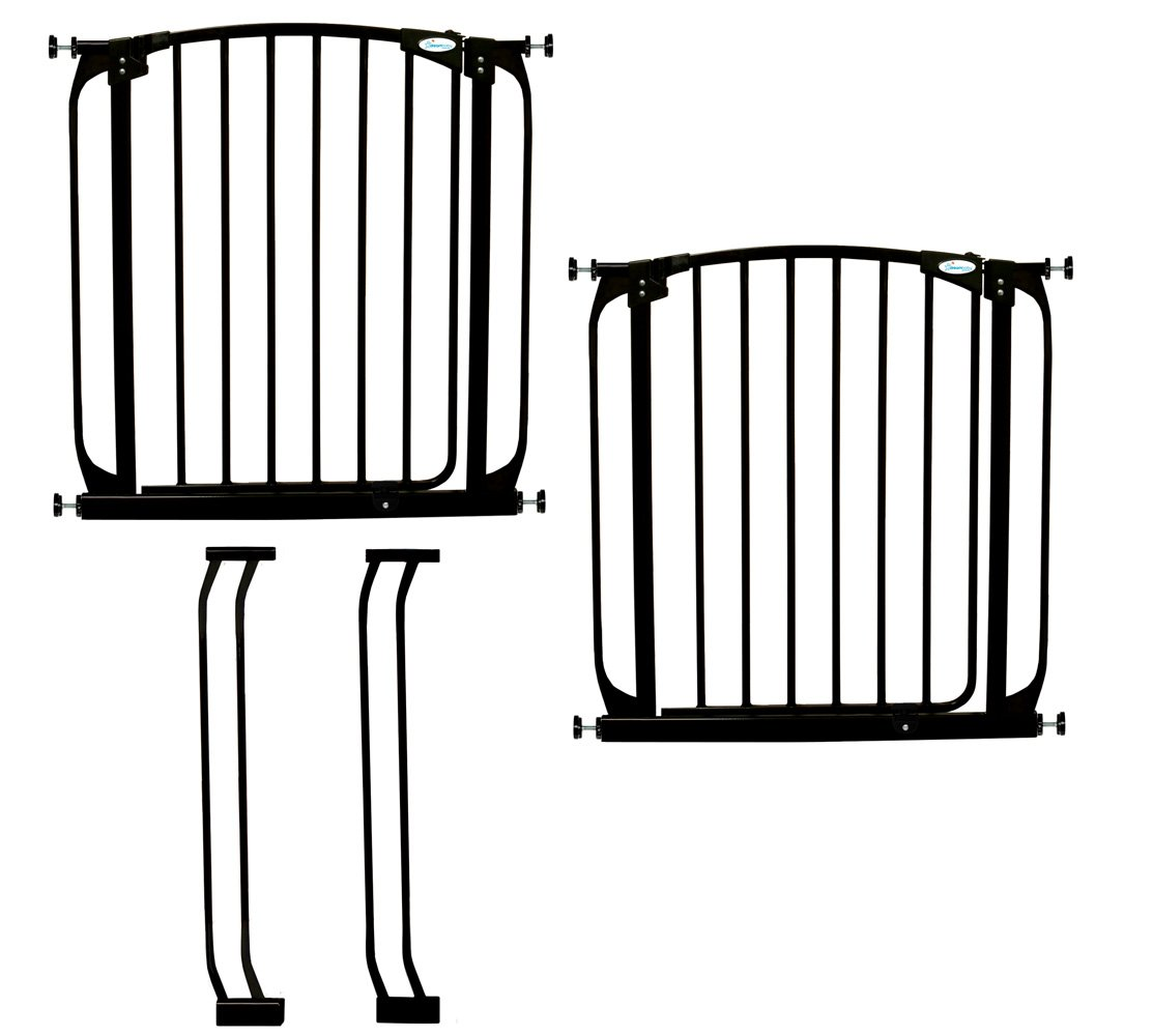Dreambaby Chelsea Auto Close Security Gate in Black Value Pack (Includes 2 Gates and 2 Extensions)