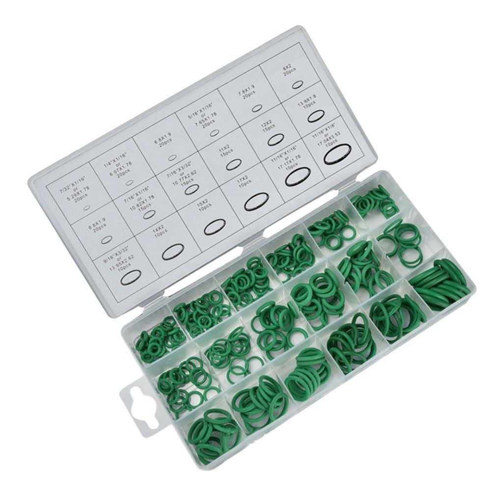 270pcs de silicona anillo o anillo con forma de reparació n Fix Kit de caucho nitrilo plana sello Fontanerí a Junta Garaje Surtido Topker