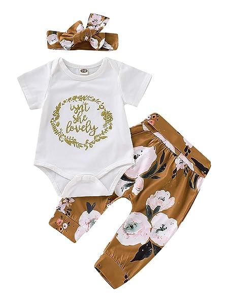 Amazon.com: 3 piezas Bebé recién nacido niñas Hello World ...