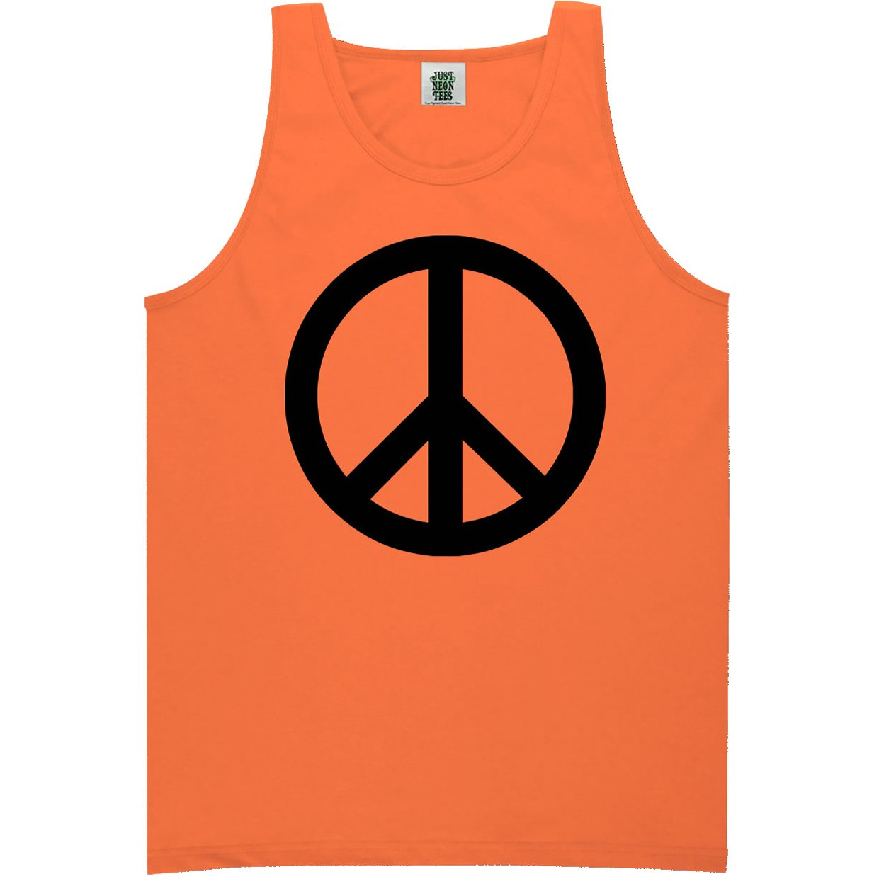 6 Bright Colors ZeroGravitee Youth Peace Sign Bright Neon Tank Top