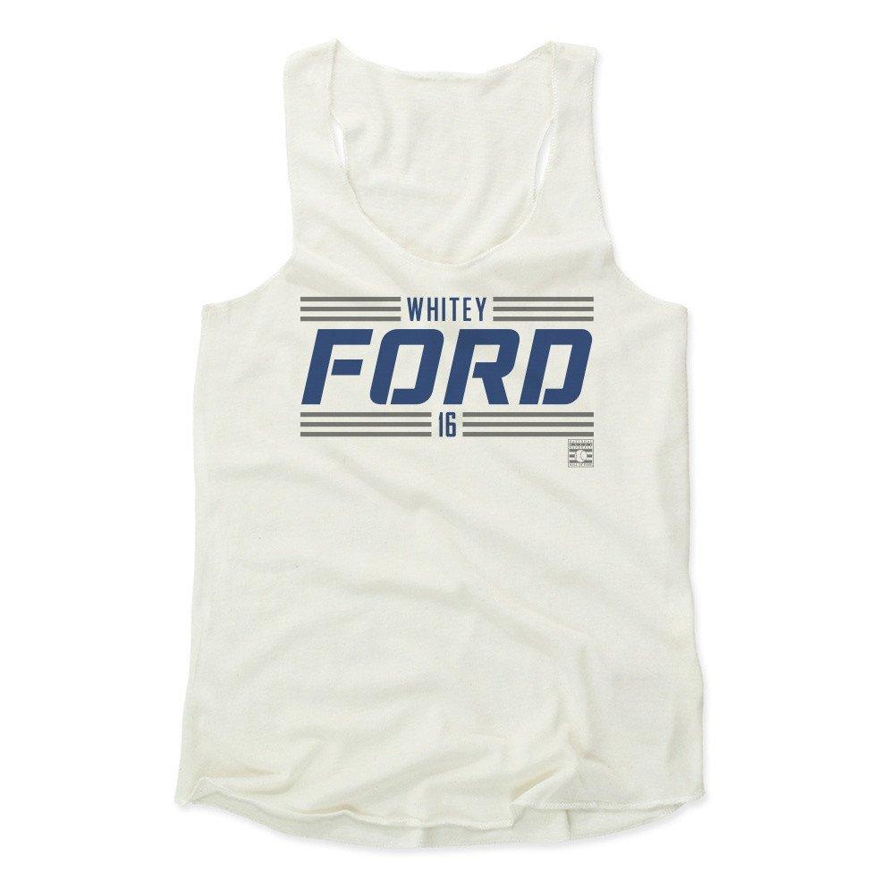 Whitey Ford Striped Font B Baseball Hall of Fame Women's Tank Top