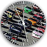 "New Nascar Wall Clock 10"" Will Be Nice Gift and Room Wall Decor W127"