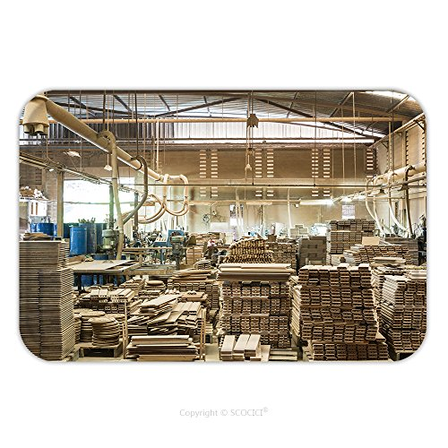 Flannel Microfiber Non-slip Rubber Backing Soft Absorbent Doormat Mat Rug Carpet Stacked Wood Pine Timber Production For Processing And Furniture Production At Woodworking 516941086 for Indoor/Outdoor (Furniture Timber Lodge)