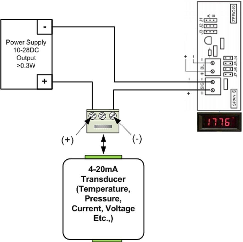 Open Source Meter Osmlp 3ern Miniature Digital Panel Red Neg Schematics Depot Tm Ultrasonic Switch Circuit Backlight 3 1 2 Digit Lcd Display 4 20ma Loop Powered Eng Units F C Psi Decimal