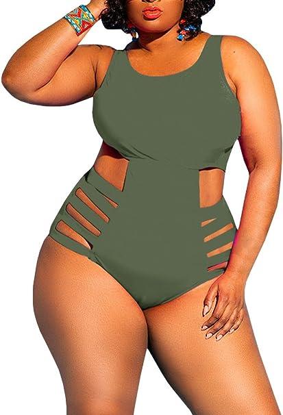 Amazon.com: Nulibenna traje de baño de una pieza para mujer ...