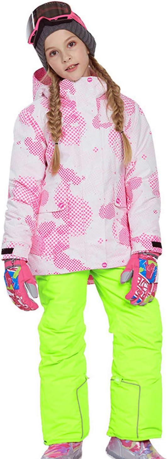 スノーボードウェア 上下セット キッズ 上下着 スキーウェア アウトドアジャケット コート 子ども 男の子 女の子 男女兼用 保温 撥水加工 スキー 釣り用 登山 (81817+K20イエロー, 120(身長115cm-120cm))