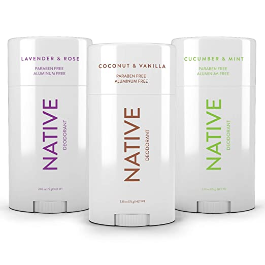Native Natural Deodorant - Vegan, Gluten Free, 3 Pack