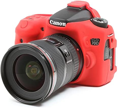 EasyCover ECC70DR - Funda para Canon EOS 70D, Rojo: Amazon.es ...